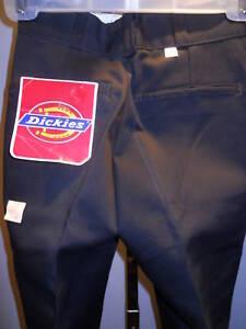 Nos Dickies Black Vintage DeadStock Pants Slacks Trousers Youth Boys Kid S 24X28