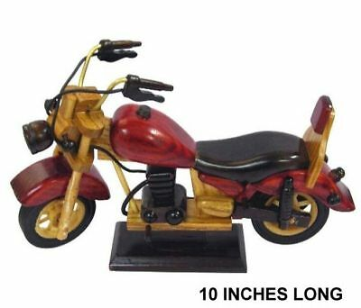 Wooden Motorcycle 10 In Wood Bikes Crafts Biker Gifts Wood Novelty Bike Item