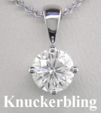 18 Carat White Gold SI2 Fine Diamond Necklaces & Pendants
