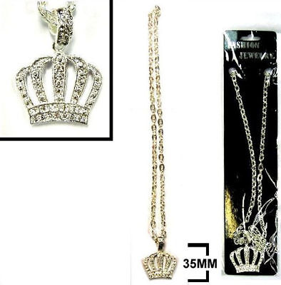 Heavy Bling King Crown Necklaces Jewelry Hip Jl400 Silver Chain Necklace