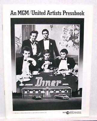 1982 Pressbook DINER Mickey Rourke Steve Guttenberg