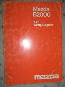 1981 Mazda B2000 Wiring Diagram Manual Electrical Car B | eBay