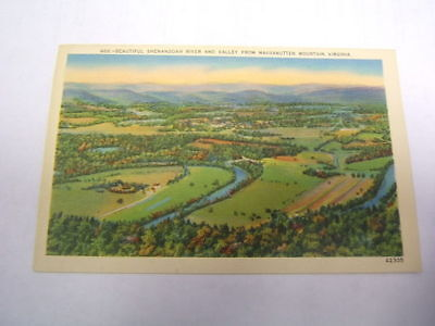 Postcard Massanutten Mountain Va Shenandoah River
