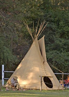 Echtes großes Tipi Indianerzelt Wigwam Indianer Zelt Jurte tepee tent yakari lk