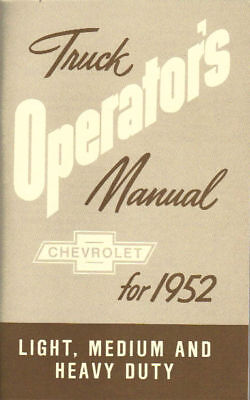1952 Chevrolet Truck Light-heavy Duty Owner's Manual