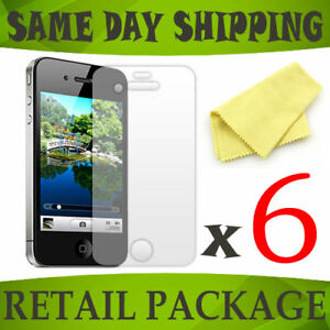 6-ANTI-GLARE-lcd-screen-protectors-cover-films-for-Apple-iPhone-4S-4-S-accessory