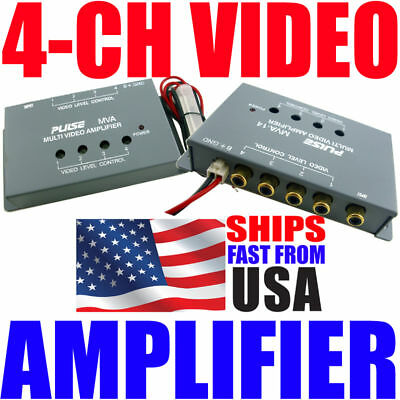 Video Monitor Signal Amplifier 1 To 4 Distribution Amp