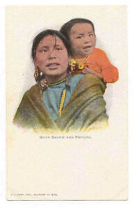1905 SIOUX SQUAW AND PAPOOSE UNUSED POSTCARD PC1540