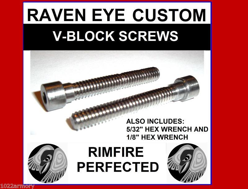 Ruger 10/22 stainless V-Block screws -improve accuracy