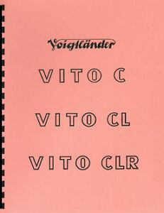 Voigtlander-Vito-C-Vito-CL-Vito-CLR-Repair-Manual