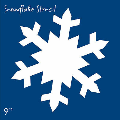 Stencil 9 Snowflake Winter Primitive Seasonal Holiday Art Christmas Wall Art