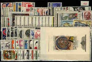 Czechoslovakia 1968 MNH Year set