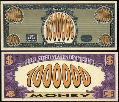 Lot of 100 PLAY MONEY MILLION DOLLAR BILLS - Play Money 100 Dollar Bills