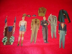 Old Military President Paper Dolls Jack Andrews