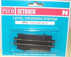 Peco-N-Setrack-ST-21-Level-Crossing-Addon-with-Track-N