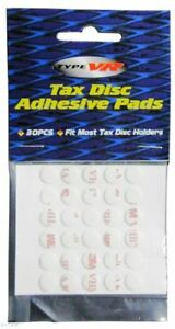 Car Alloy Metal Tax Disc Holder 30 Clear Sticky Adhesive Pads