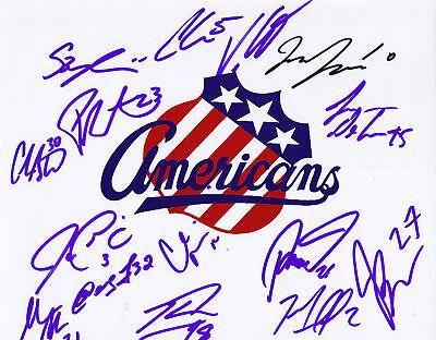 2009-2010 AHL Rochester Americans Amerks team signed