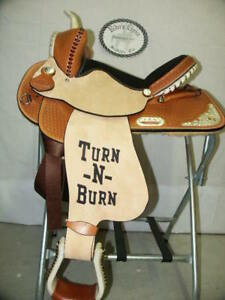 15-034-GW-CRATE-BARREL-RACING-SADDLE-CUSTOM-ONE-OF-A-KIND-FREE-SHIP-MADE-IN-ALABAMA