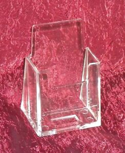 10-Acrylic-Vertical-Business-Card-Holder-Stand-Displays