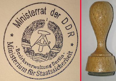 DDR Stempel STASI (MfS) Bezirksverwaltung Berlin - REPRO - wird neu angefertigt
