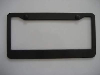 Blank Black Plastic License Plate Frame Free Screw Cap Ebay