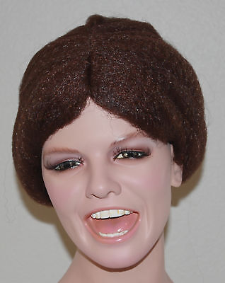Brown Old Lady Granny Wig With Bun