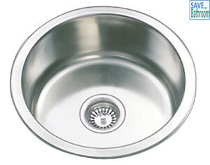 Drop In Laundry Tub : Details about Round Single Round Bowl Drop In Kitchen Laundry Sink