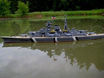 RC Schlachtschiff Bismarck ferngesteuertes Kriegsschiff Schiff 2. Weltkrieg NEU