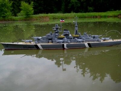 RC Schlachtschiff BISMARCK ferngesteuertes Kriegsschiff Schiff Boot 2.Weltkrieg