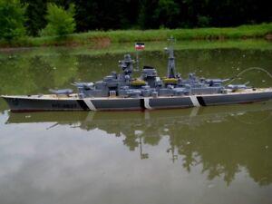 Rc Schlachtschiff Bismarck Ferngesteuertes Kriegsschiff Schiff Boot