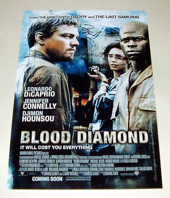 BLOOD DIAMOND CAST X2 PP SIGNED POSTER 12