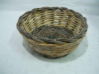 Basket wood wicker rod artisan trash can