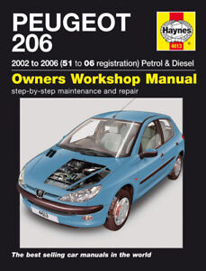 Haynes-Workshop-Repair-Manual-Peugeot-206-01-06
