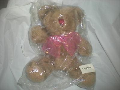 Blair Tan Teddy Bear Pink Star Bow Plush