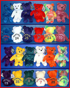12 SALVINOS BAMM BEANOS 1998 Baseball TEDDY BEARS Bean Bag MWMT Complete Set!