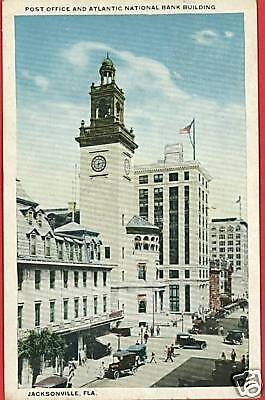 Jacksonville Florida Atlantic National Bank  Postcard