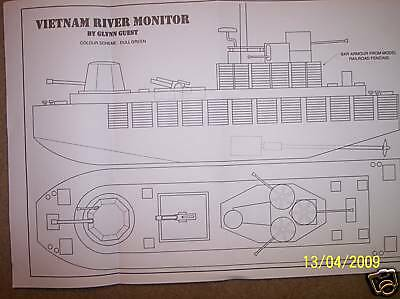 viet nam river monitor ship boat model boat plan