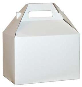 25-BIG-LARGE-WHITE-GABLE-BOXES-SIZE-9-x-6-x-6