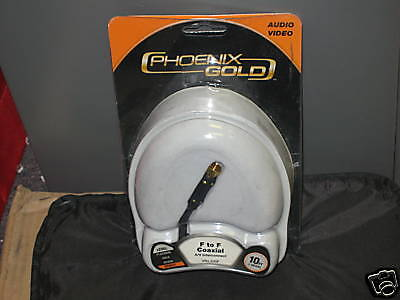 Phoenix Gold F To F Coaxial 10 Ft. Home Theater Audio
