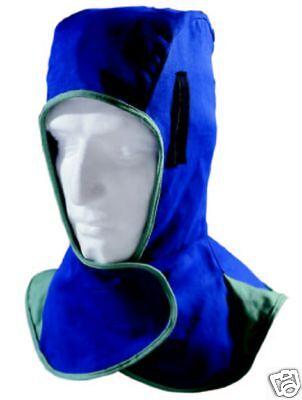 WELDAS Schweißerhaube Schweißerkopfhaube blau, waschbar 60°C