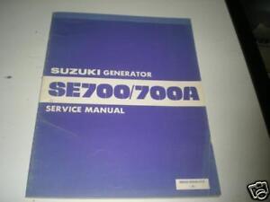 Suzuki se700a generator manual
