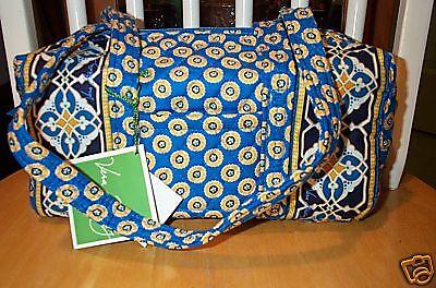 Vera Bradley Retired Riviera Blue Classic 100 Handbag Purse