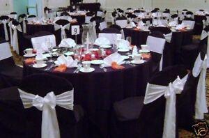 100 mariage housses de chaise en vente noir nouveau