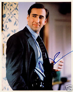 nicolas cage leaving las vegas signed 8x10 photo coa ebay