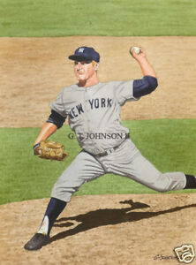 WHITEY FORD NEW YORK YANKEES ART PRINT