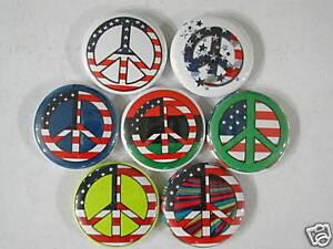 PEACE-SIGN-FLOWER-HIPPIE-6-NEW-Pins-Pinbacks-Buttons-tv