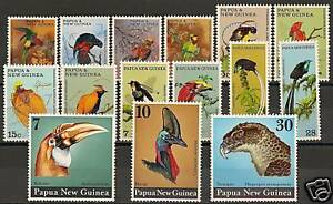 Papua-New-Guinea-BIRDS-sets-MNH-VF