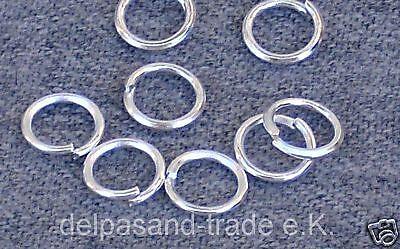 100 Biegeringe, nickelfrei, Öse, Silber Plated, 5x1mm, K64