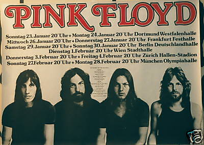 PINK FLOYD CONCERT TOUR POSTER 1977 ANIMALS EUROPEAN TOUR