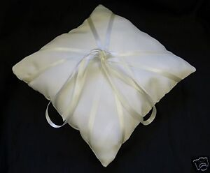 IVORY SATIN RING BEARER PILLOW/CUSHION - WEDDING